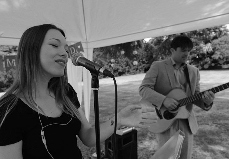 Hire a Live band for Marquee Wedding