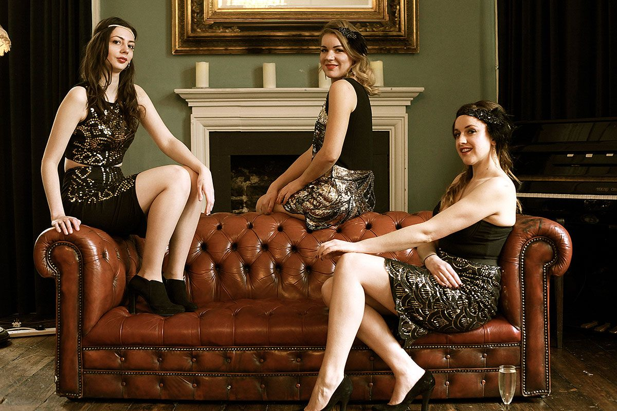 Three Female Vocal Harmony Speakeasy Swing Band for Hire