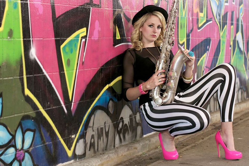 Female DJ with Sax