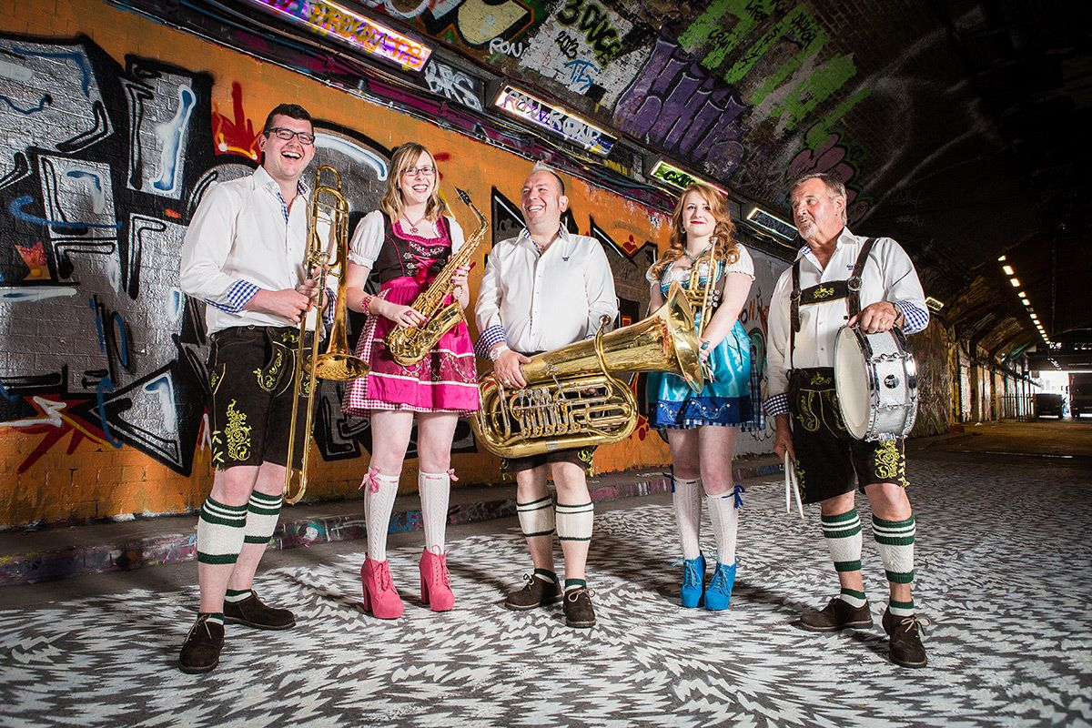 German Oompah band for hire