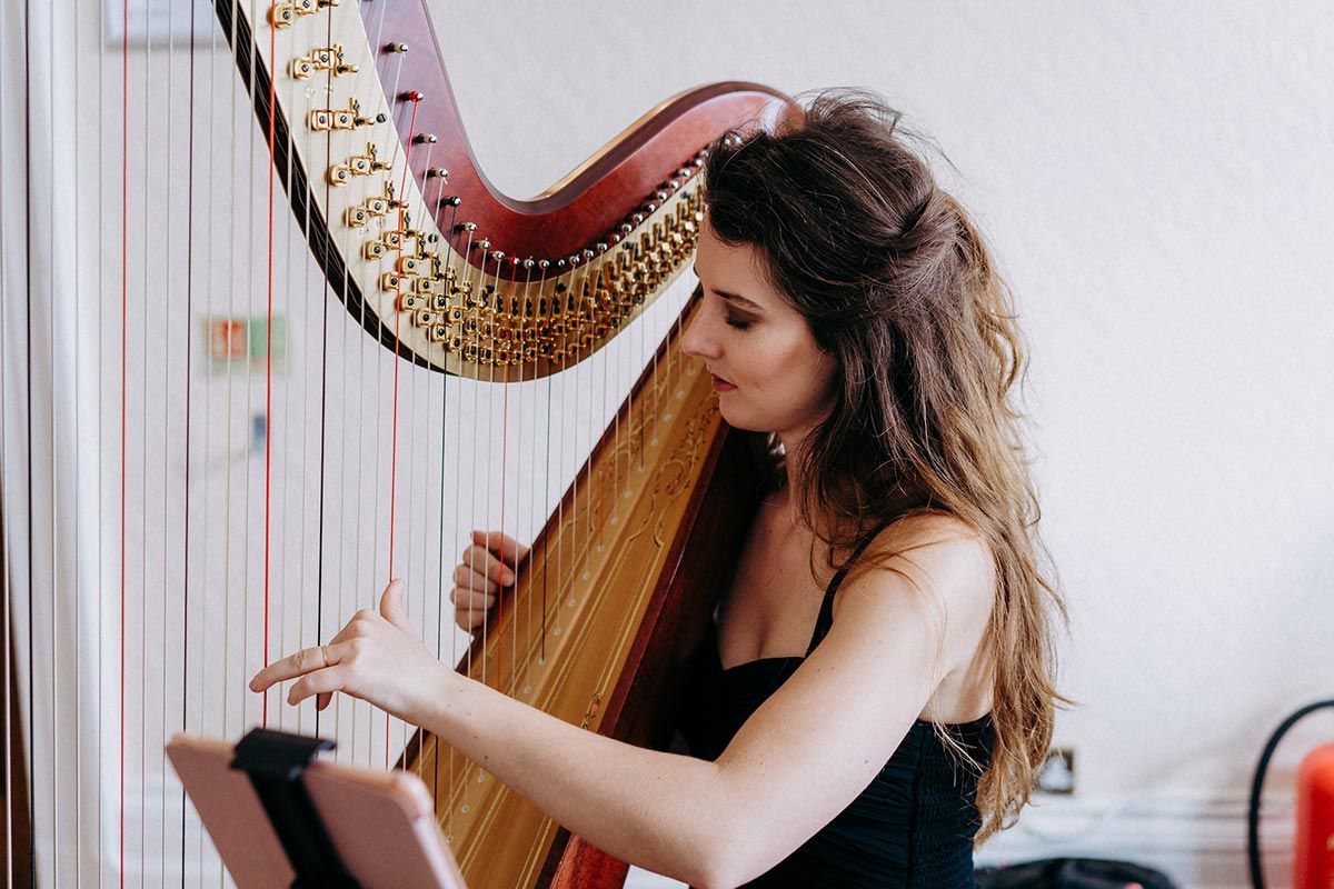 North East Female Solo Harpist