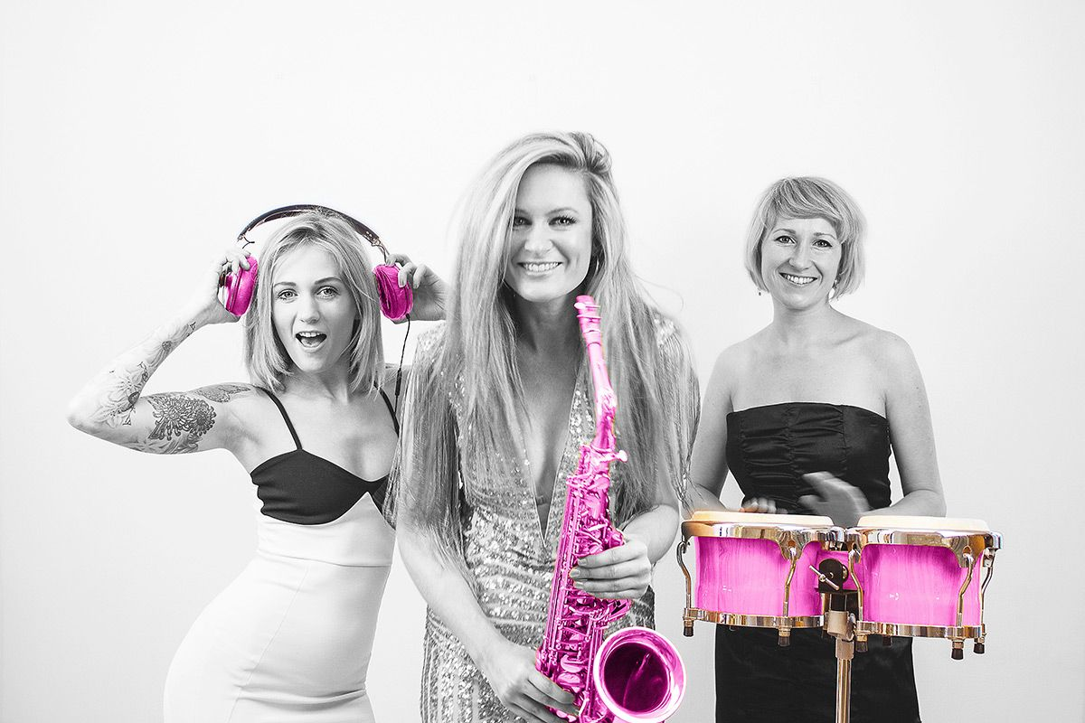 All Female DJ, Sax & Percussionist Trio